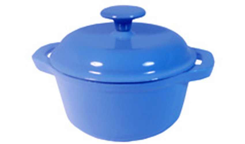 Round Blue Dutch Oven 1.75qt